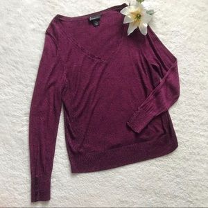 Lane Bryant Pink V Neck Sweater Button Sleeves